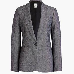 J Crew 100% linen tweed style blazer